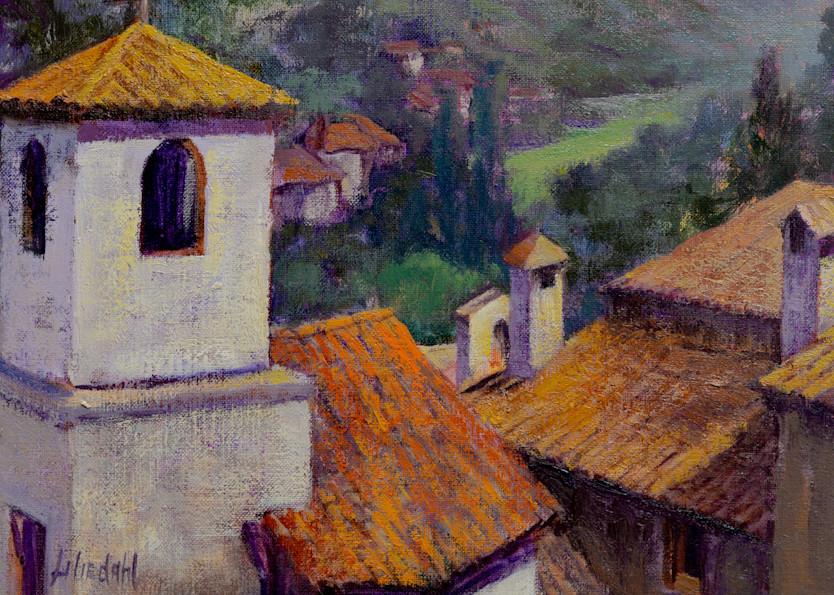 Italian Hilltown Rooftops Art | Liliedahl Art