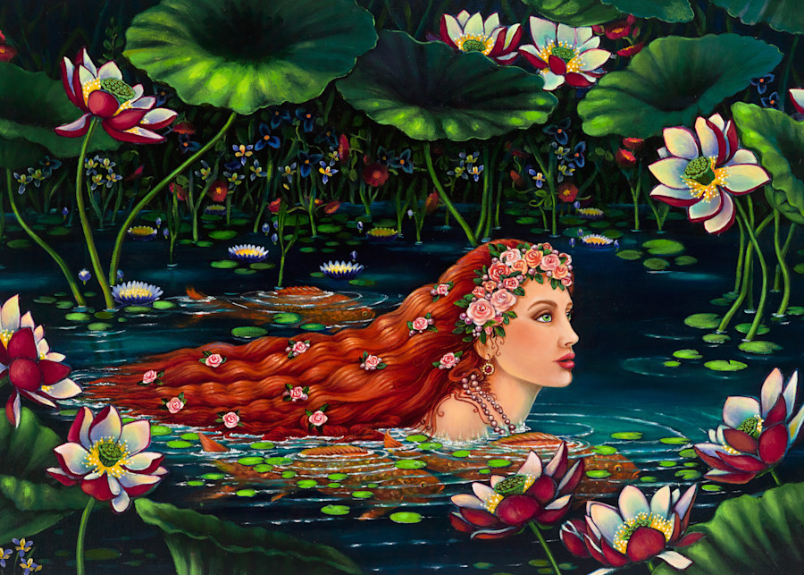 Lady Of The Lotus Art | miaprattfineart.com