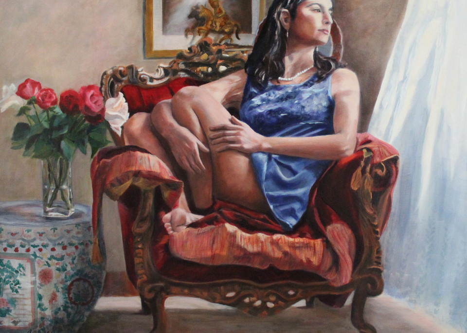 Lazy Afternoon In The Red Chair Art | Aubrey Kyle Creates