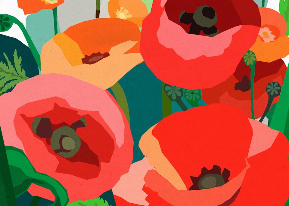 Red Poppies By Andrew Daniel Art | Artofandrewdaniel