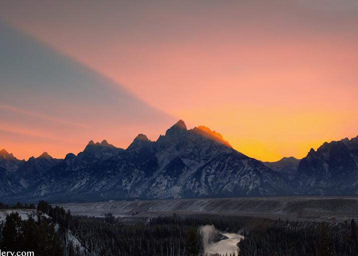Teton Sunset Art | The Carmel Gallery