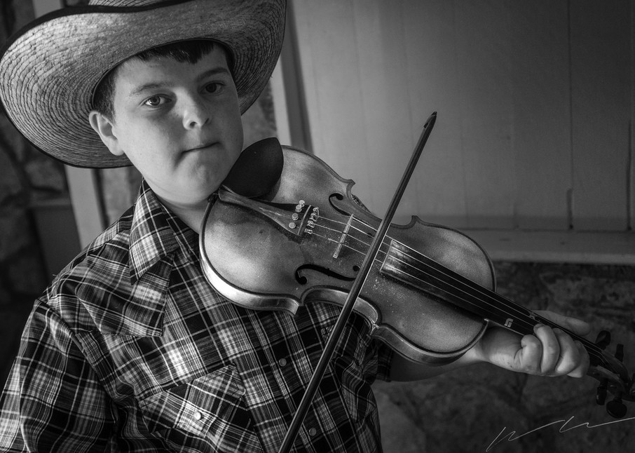 Fiddlin Boy Photography Art | Harry John Kerker Photo Artist