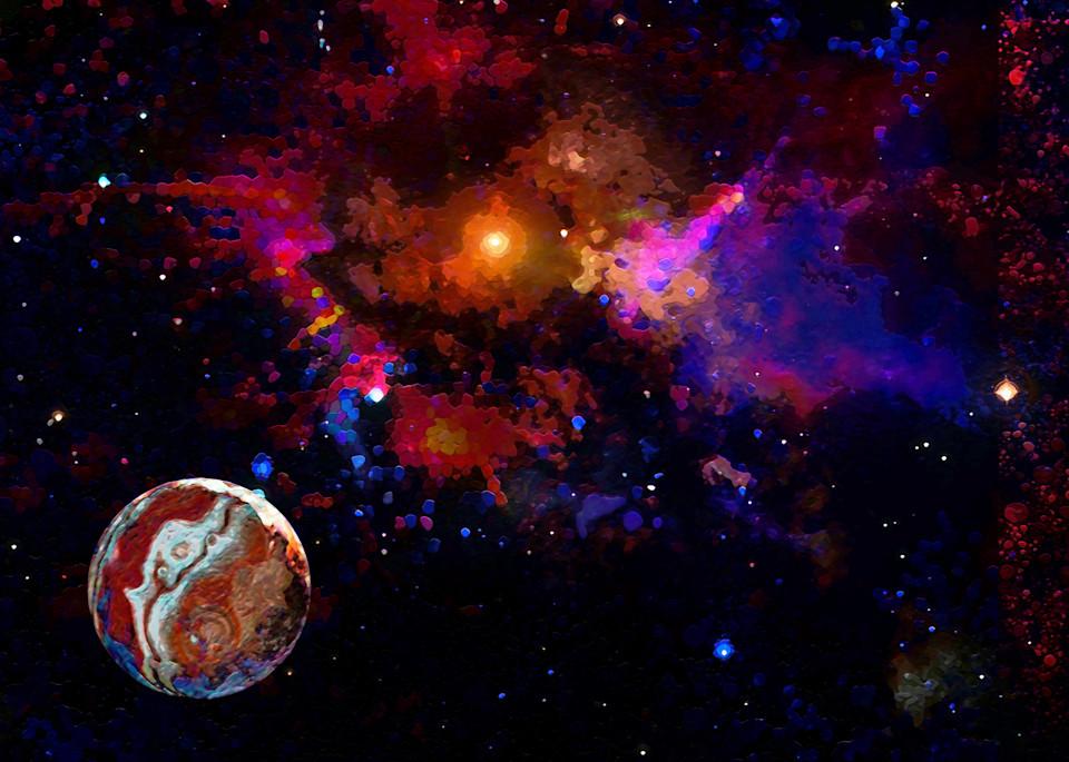 Outerspacebackground  Art | Don White-Art Dreamer