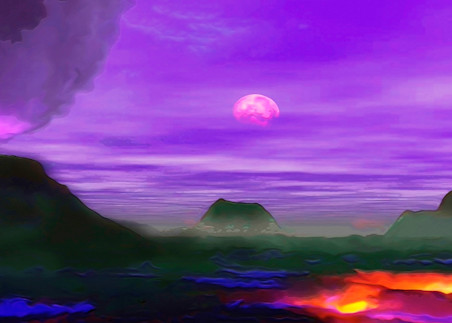 Volcanoplanet 54x18 Art | Don White-Art Dreamer
