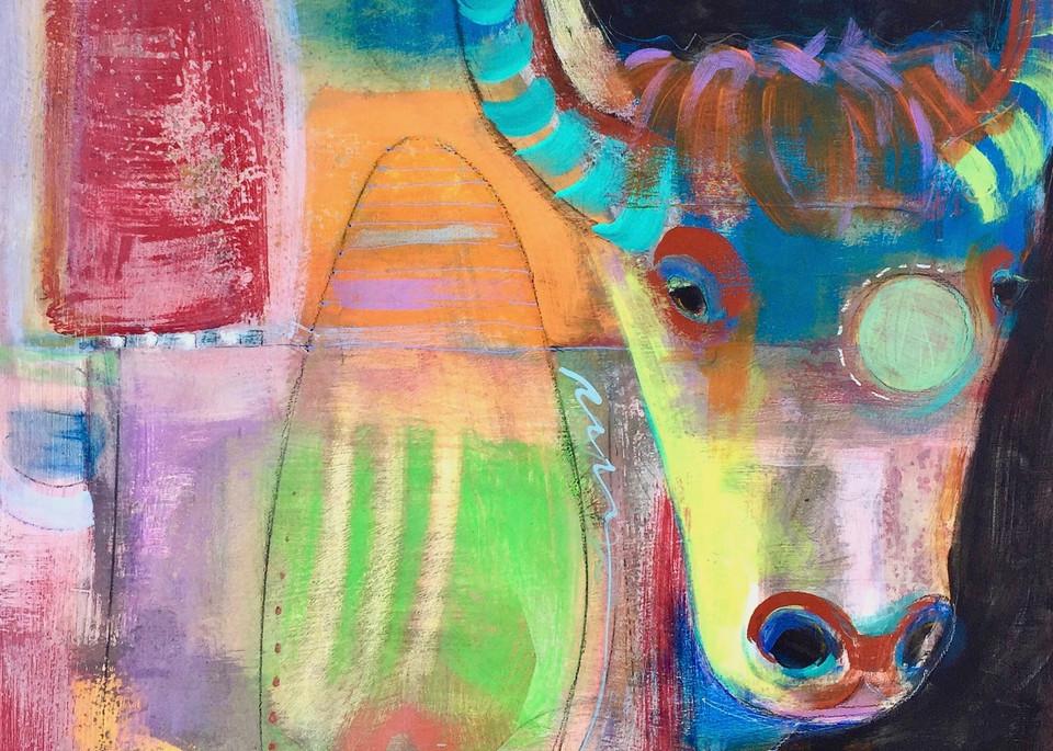Colorful Bison Print