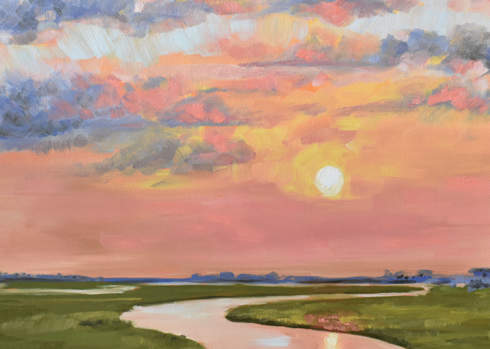 Giclee Print Glassy Waters on the Marsh by April Moffatt