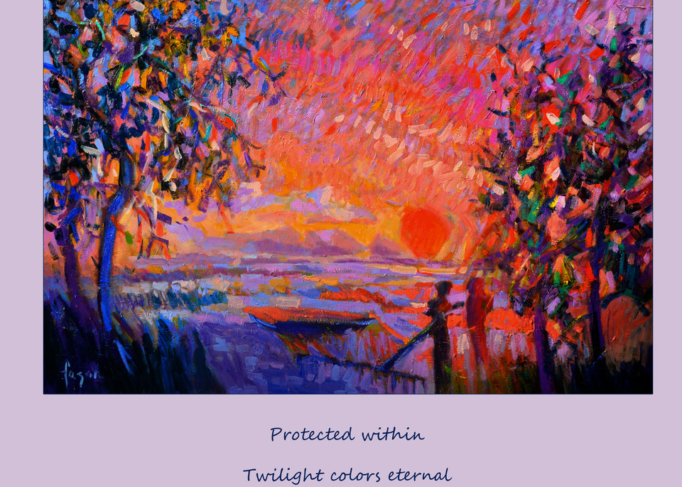 Red Sunset Oyster Art Poster Wall Decal by Dorothy Fagan