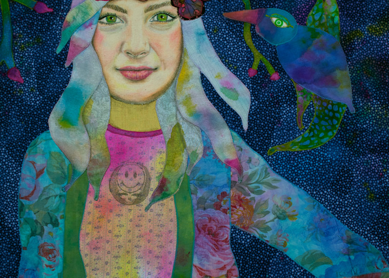 Girl With Kaleidoscope Eyes  Art | Karen Payton Art