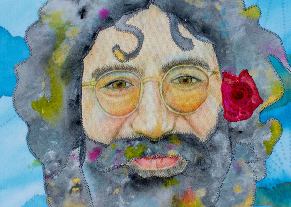 Jerry Garcia The Sky Was Yellow And The Sun Was Blue Art | Karen Payton Art