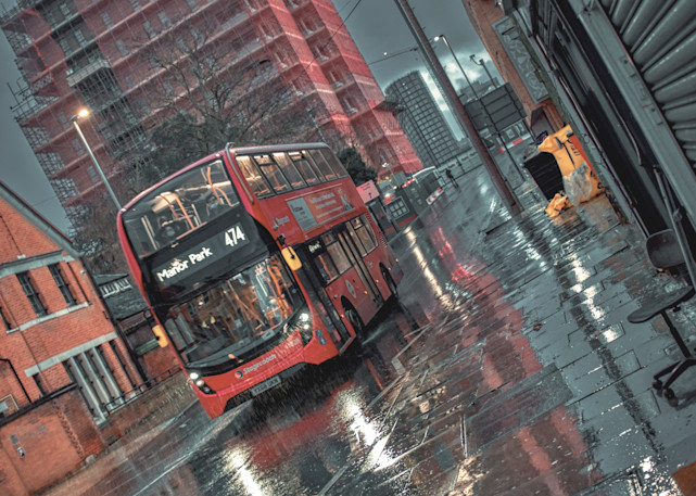 The Best Red Bus Ever Art   Martin Geddes Photography