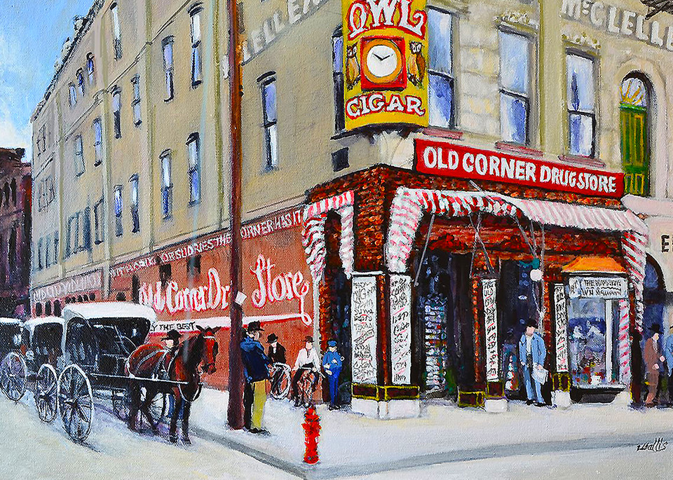 Morrison S Old Corner Drug Store Art | Charles Wallis