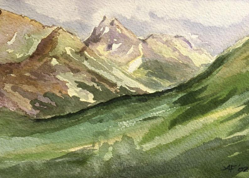 Chugach Mountain Alaska Art Print by Amanda Faith Thompson