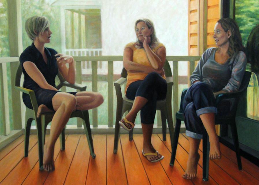 The Conversation On The Porch Art   Lidfors Art Studio