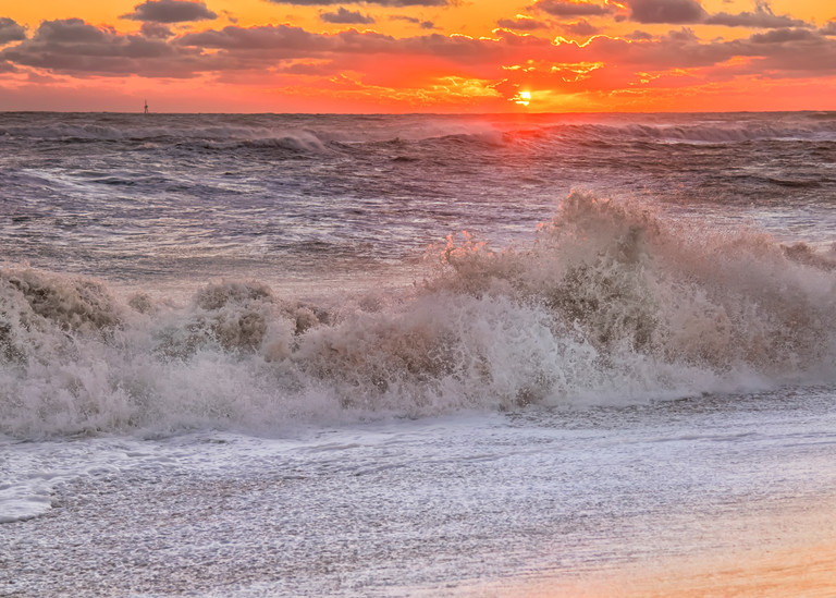 South Beach Sunset Crashing Waves Art | Michael Blanchard Inspirational Photography - Crossroads Gallery