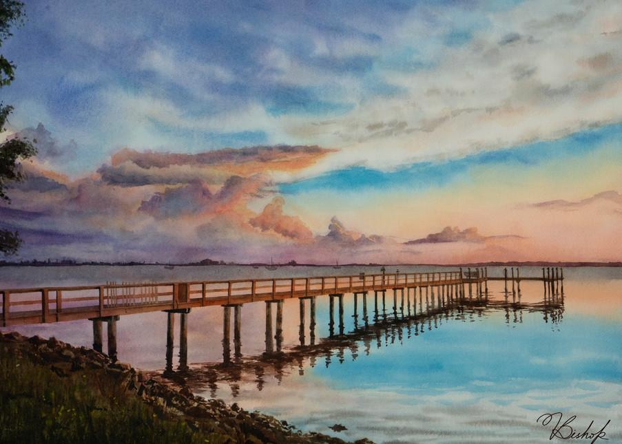 Evening By The Dock Art | victoriabishop.art