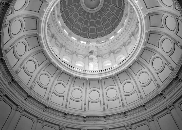 Rotunda Dome, Texas State Capitol, 1882 08, Austin, Texas (1975) Photography Art | Rick Gardner Photography