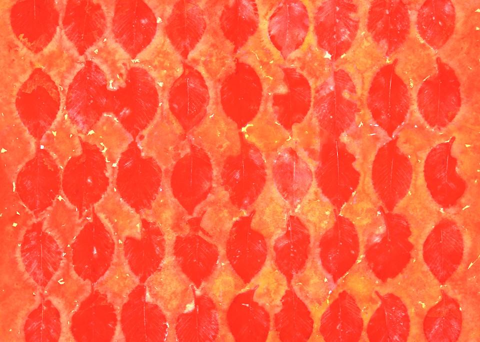 Orange Leaves Art   Courtney Miller Bellairs Artist