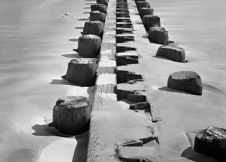 Breakwater, Galveston Island, Texas 1972 Photography Art | Rick Gardner Photography