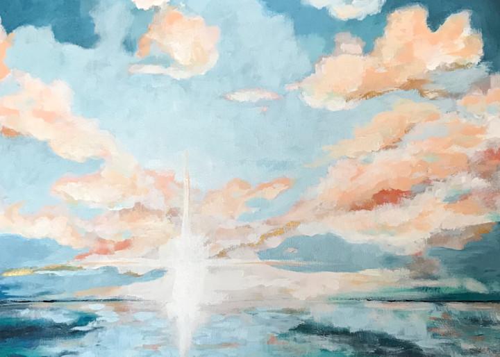 Giclee Print Breaking Dawn Landscape by April Moffatt