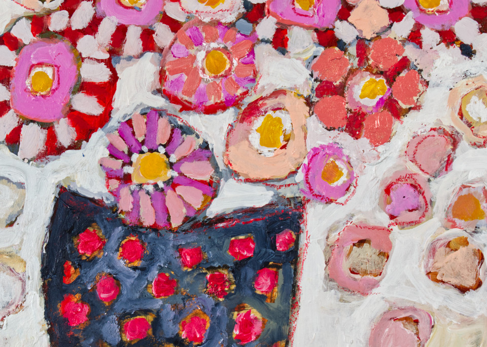 A Bushel Of Pinks For The Neighbor's Miniature Donkey Art | staciswider