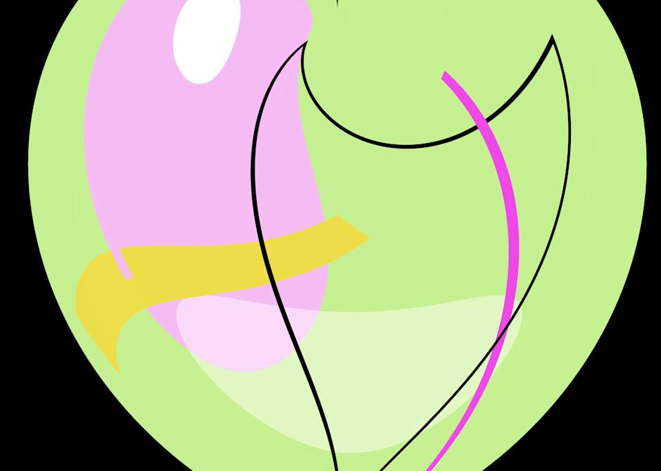 Pastel Green Heart/Merch Art | karenihirsch