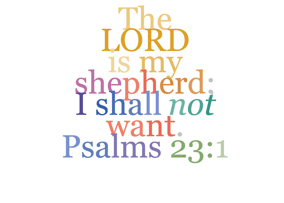Psalm 23:1 Faith Verse