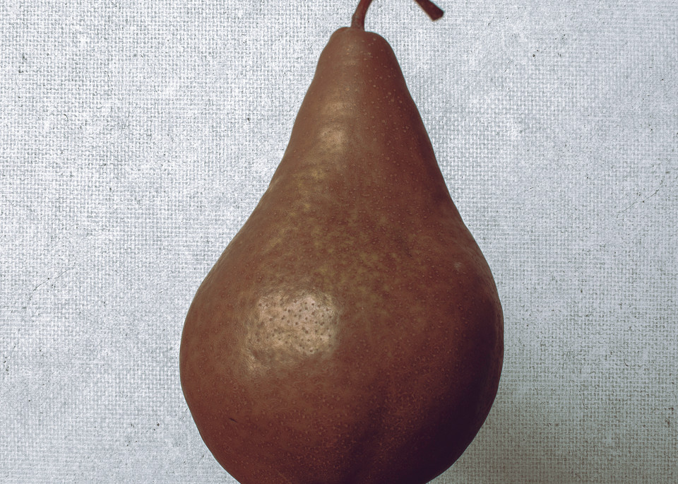Food Canvas Pear by Nathan Larson.