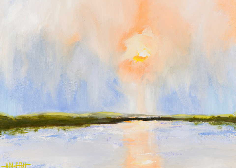 Giclee Print Misty Marsh by April Moffatt