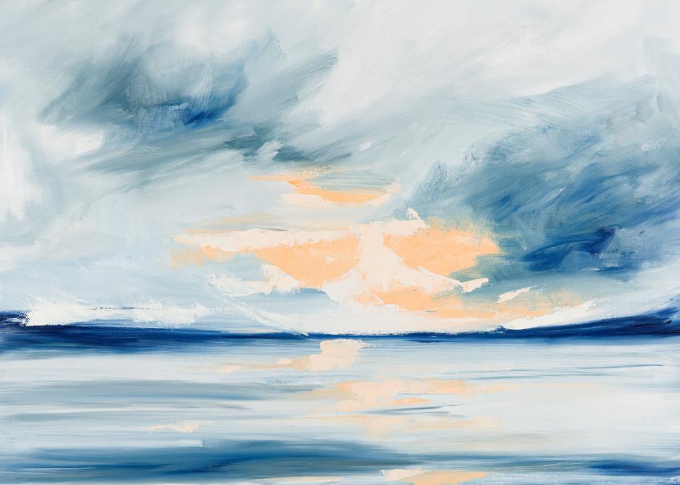 "Giclee Print ""Storm Over The Harbor"" Art Art | aprilmoffatt"