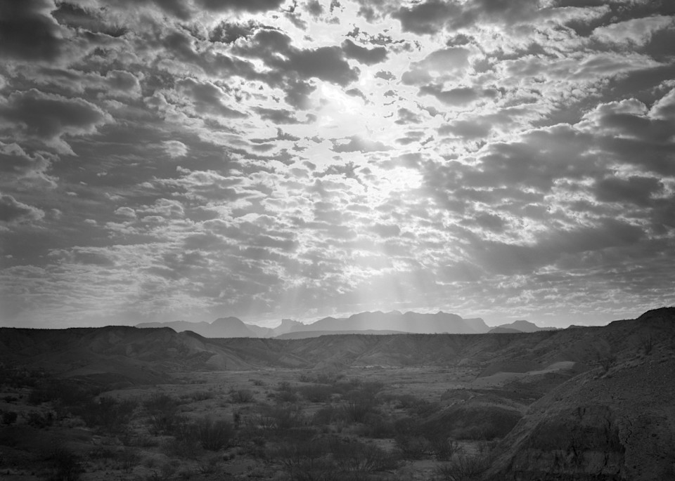 Chisos Mountains From Grapevine Hills, Big Bend National Park, Texas 1980 Photography Art | Rick Gardner Photography