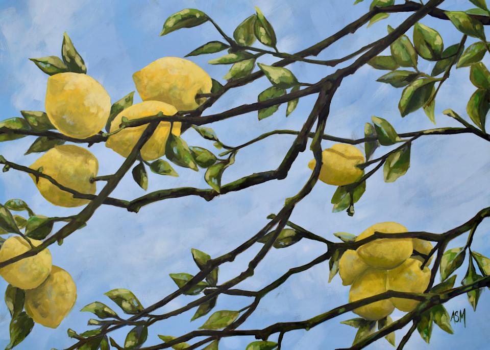 Giclee Print -  Italian Lemons - by April Moffatt