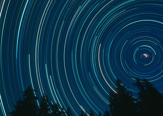 Star trails from Mt. Teewinot approach ridge