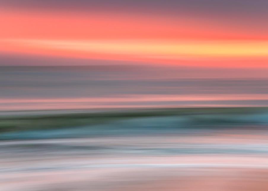 South Beach Sunset Pastel Wave Art | Michael Blanchard Inspirational Photography - Crossroads Gallery