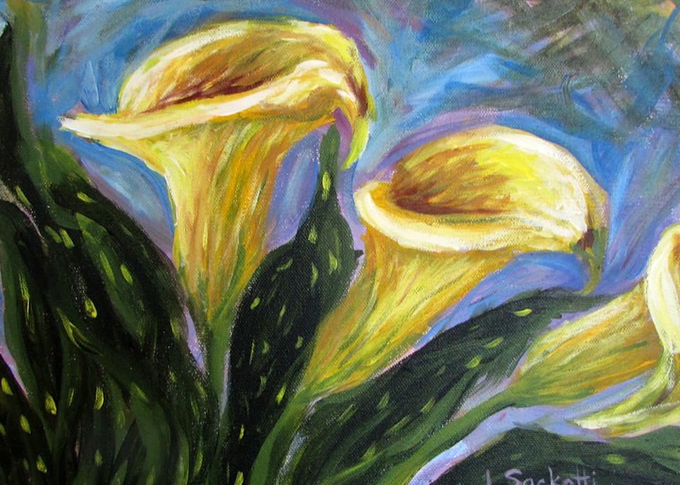 Calla Lilies 2 Art | Linda Sacketti