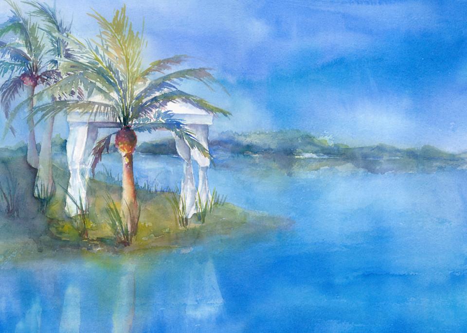 Cabana At The Lake Art | ArtByPattyKane