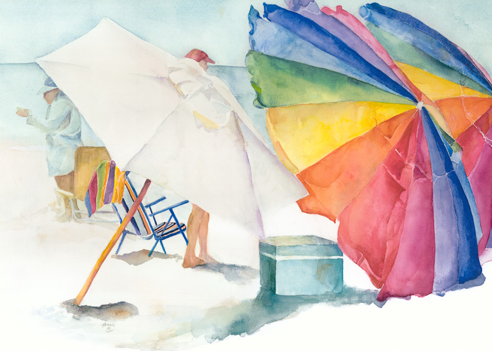 Beach Umbrellas Art | ArtByPattyKane
