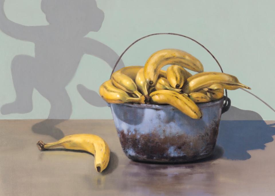 Banana Bandit | Richard Hall print | Humor | Monkey shadow | bananas