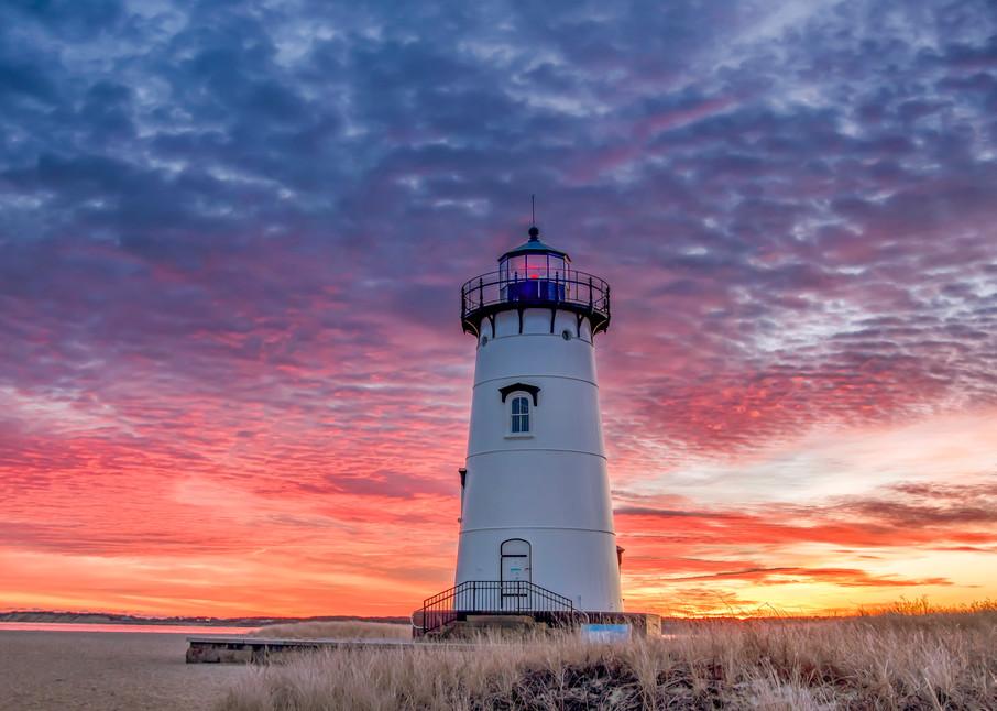 Edgartown Light Winter Clouds Art   Michael Blanchard Inspirational Photography - Crossroads Gallery
