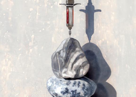 Getting Blood From A Stone Art | Richard Hall Fine Art