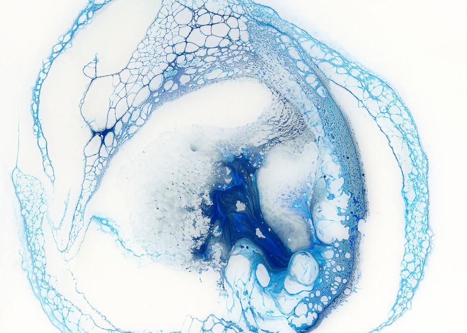Pelagic,ocean art, abstract, blue, modern