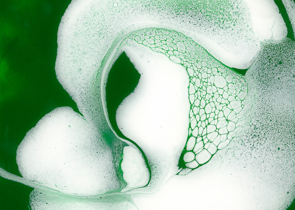 Unexpected Surpirse, green art, abstract art, paintings