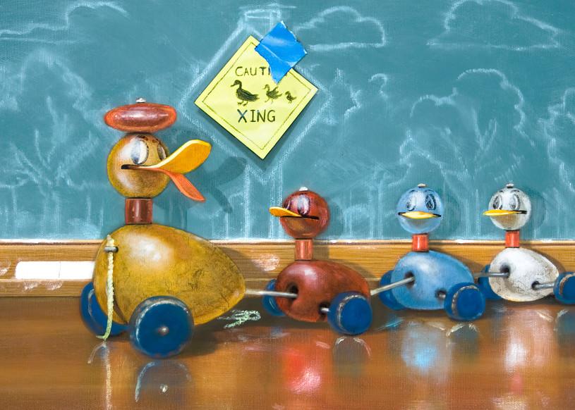 Duck Crossing Art | Richard Hall Fine Art