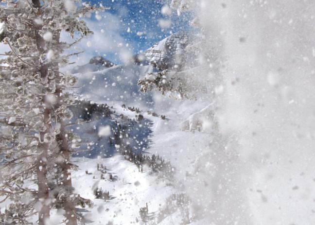 Beyond the Far Drift, Rendezvous Mountain, Cody Peak beyond, Erik Otterholt