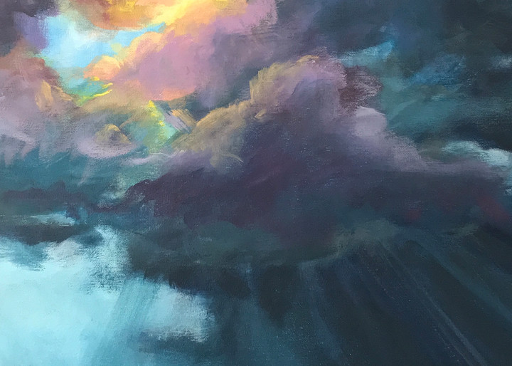 "Giclee Print ""Through the Storm"" Ocean Landscape"
