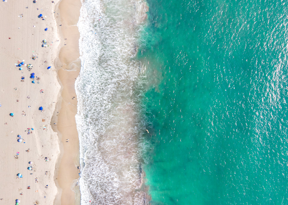 aerial beach print, Santa Monica photography, california ocean photo, Los Angeles photography, turquoise sea, Beach decor