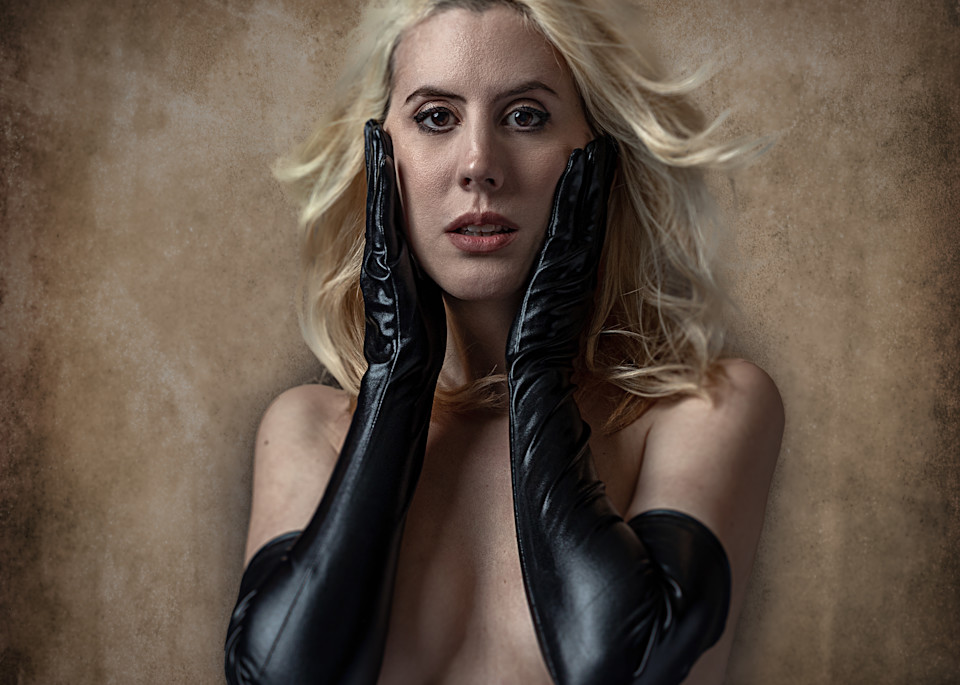 Kim In Black Gloves 2 Photography Art | Dan Katz, Inc.
