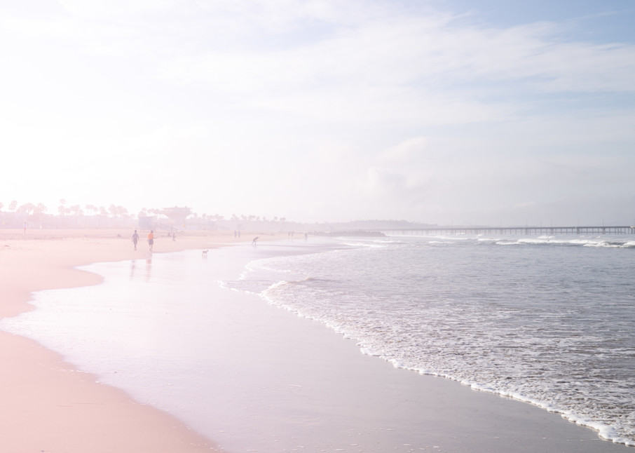 Beach Wall Art, Beach, Ocean, Beach Decor, Ocean Photography, Santa Monica, Los Angeles Wall Art, California, Fine Art Print