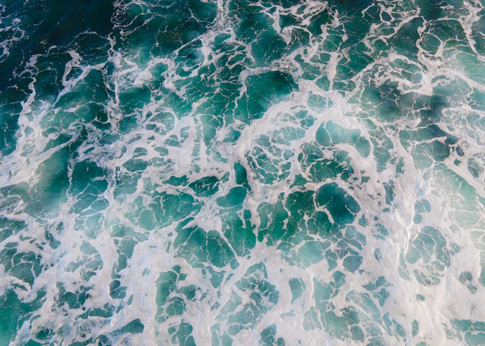 aerial ocean photography, aerial beach print, ocean decor, beach wall art, surf, waves, blue ocean, above ocean print, aerial large wall art