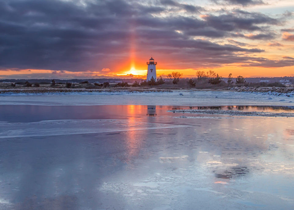 Edgartown Light Frozen Light Beam Art | Michael Blanchard Inspirational Photography - Crossroads Gallery