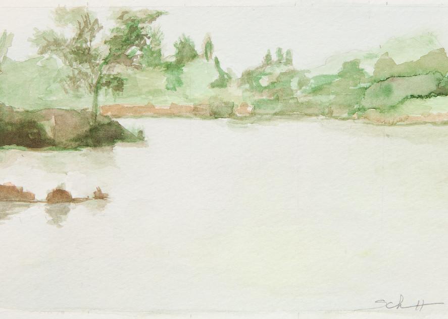 Pond Morning Foggy Art | Elaine Schaefer Hudson Art